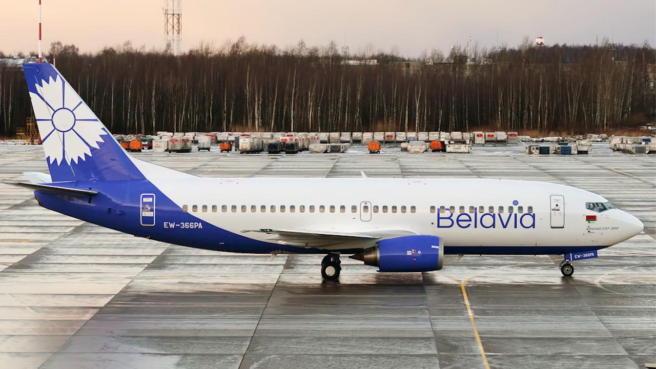 Беларуската национална авиокомпания обяви, че е била принудена да анулира полети до осем страни от 27 май до 30 октомври