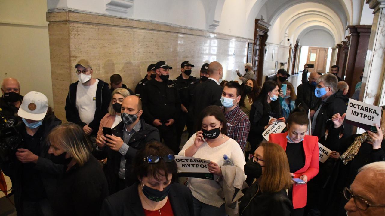 Протестиращи поискаха оставката на Гешев