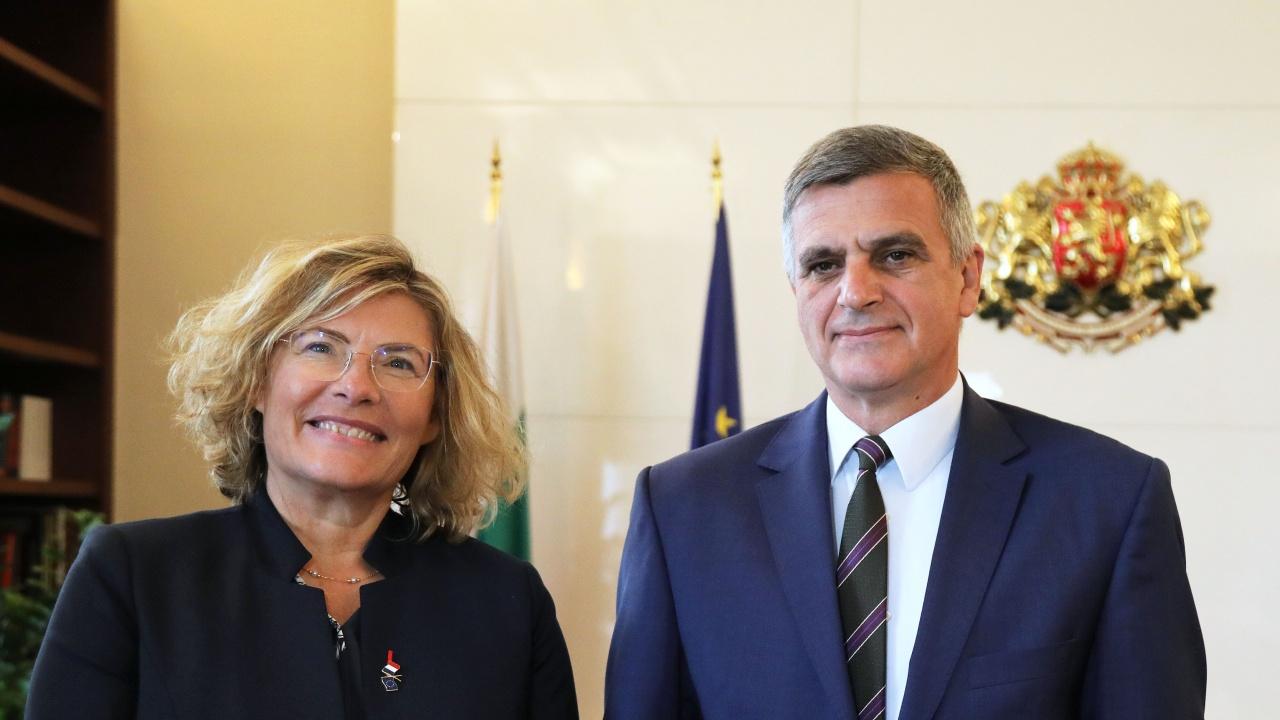 Янев разговаря за ЕС, НАТО и изборите с посланика на Франция у нас