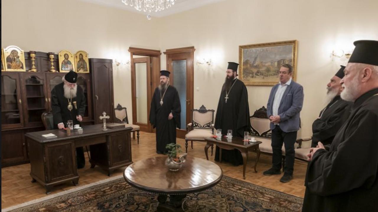 Патриарх Неофит благослови съветниците от Софийската епархия в обновения си приемен кабинет