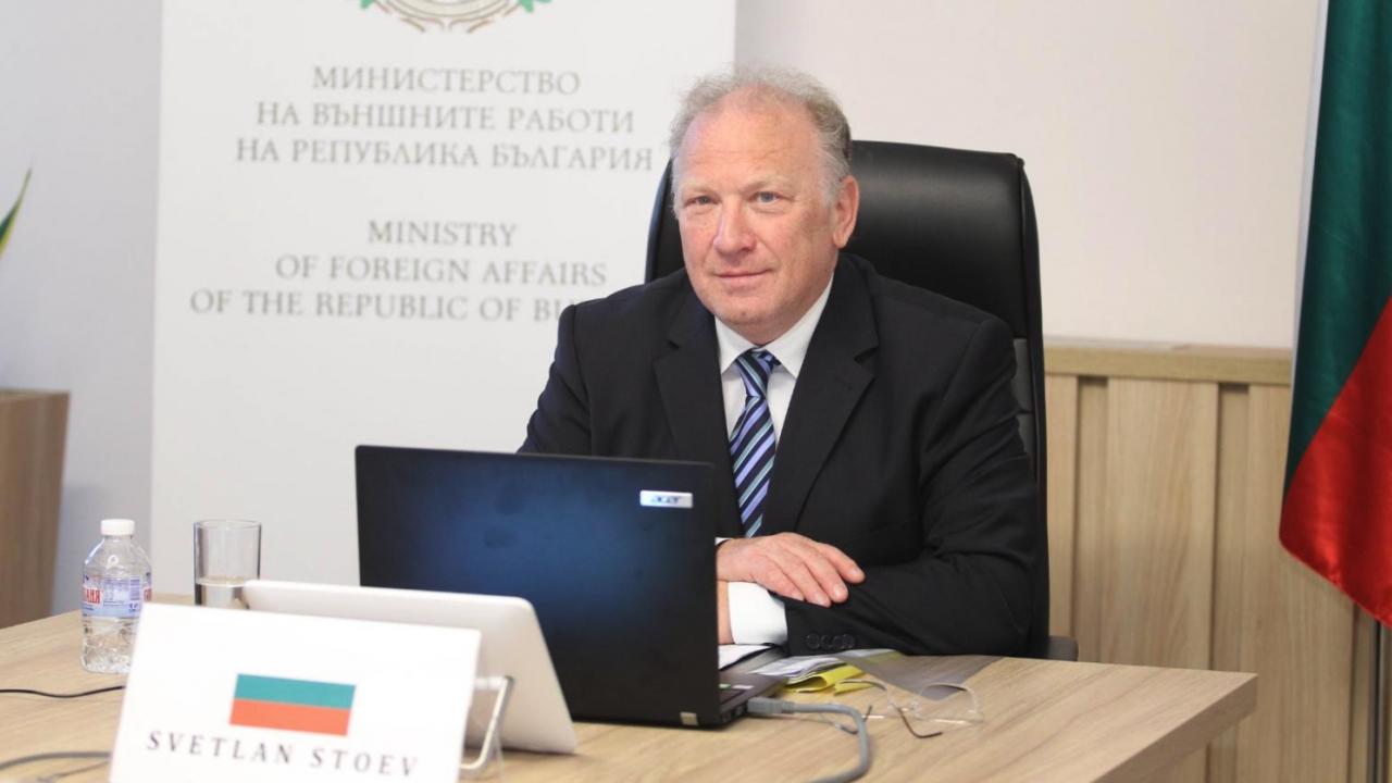 Светлан Стоев участва във видеоконферентна среща на външните министри от Берлинския процес