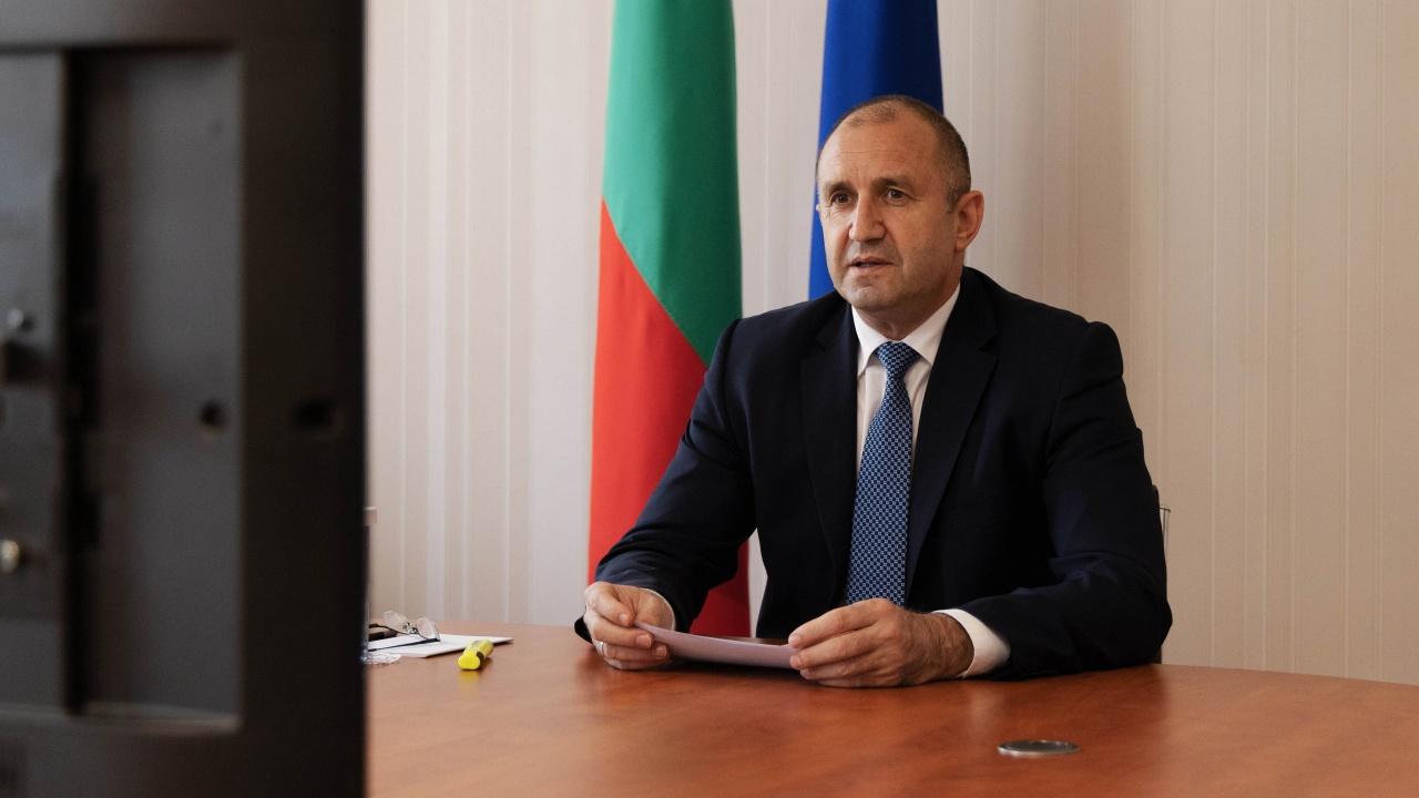 Румен Радев проведе видеоконферентен разговор с председателя на Европейския парламент Давид Сасоли