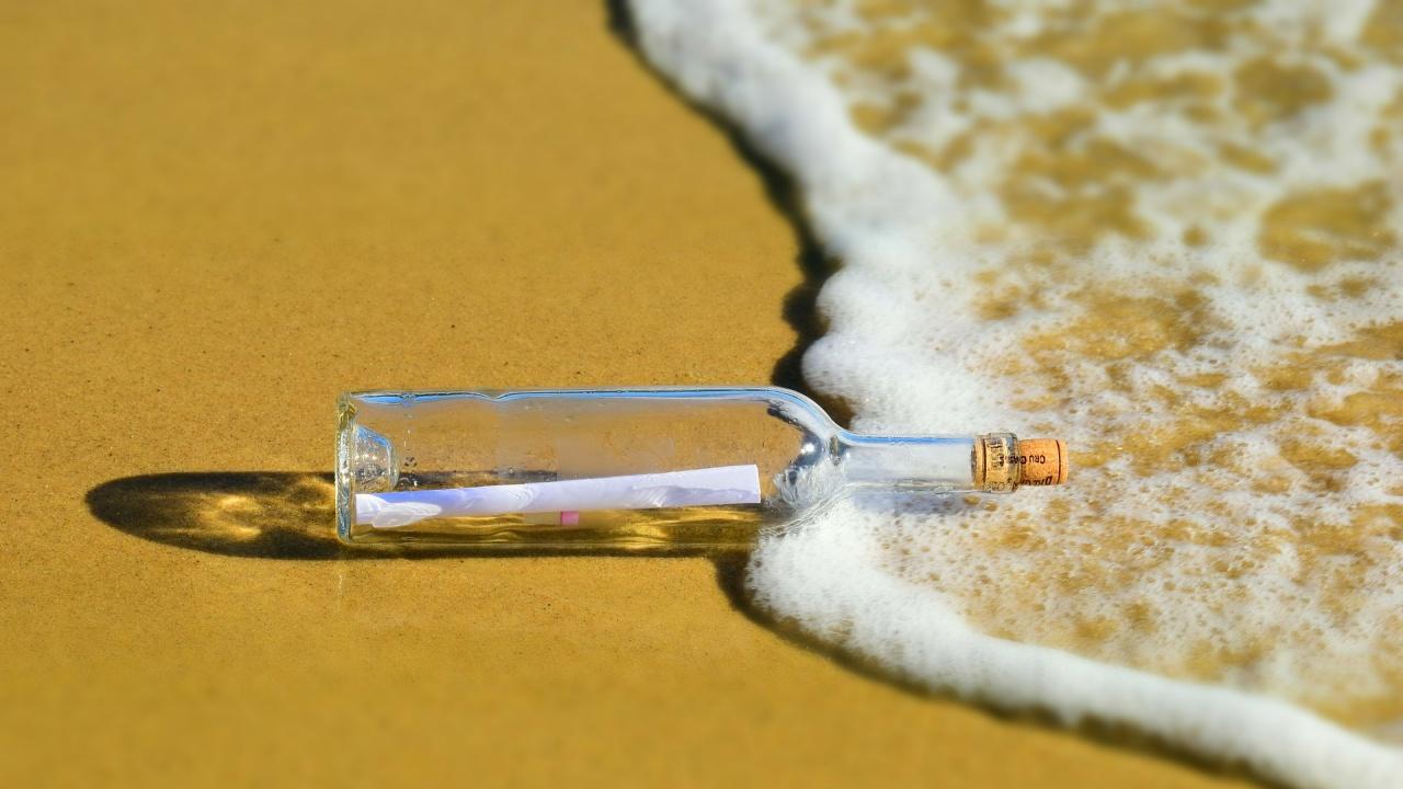 Писмо в бутилка прекоси Атлантическия океан