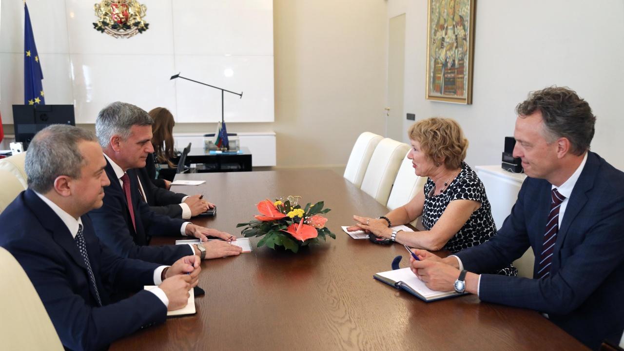 Стефан Янев проведе среща с посланика на Кралство Нидерландия