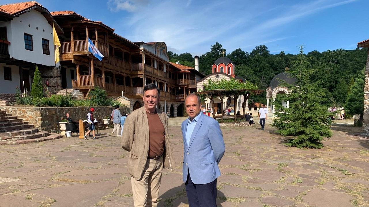 Иван Анчев и Горан Благоев гостуваха на Гигинския манастир