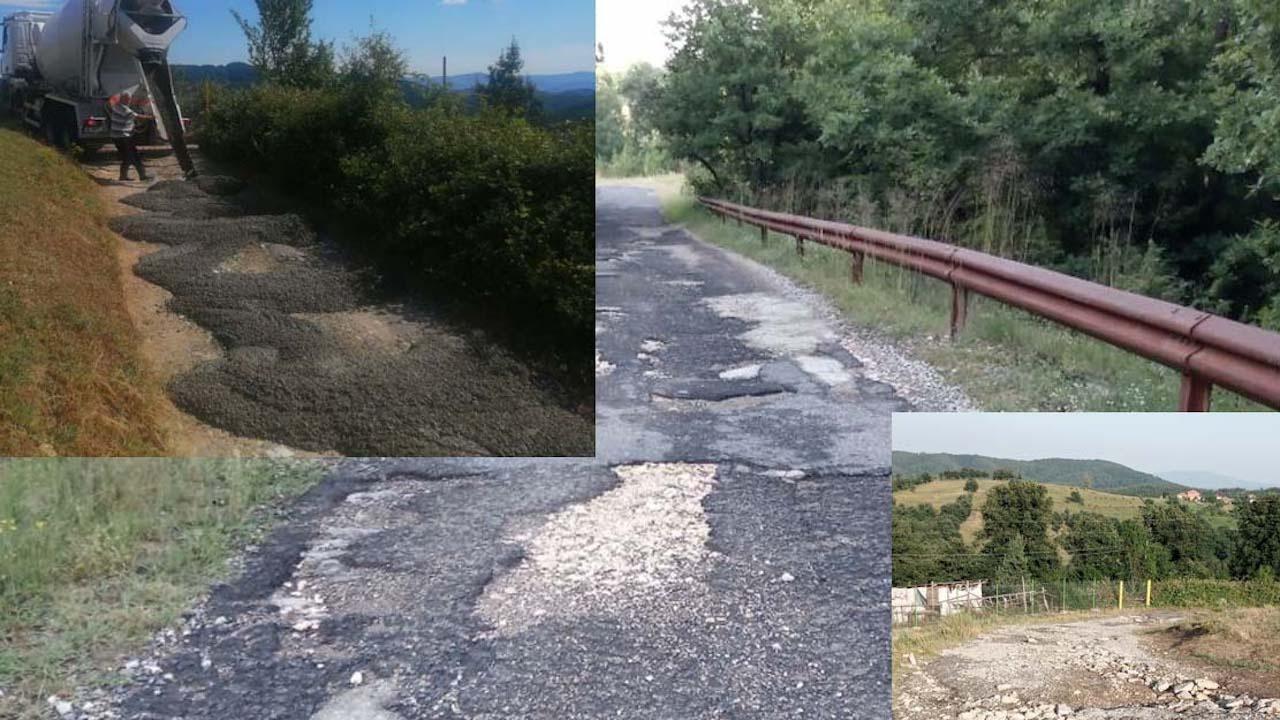 Републиканци за България ремонтираха общински път в Кърджалийско