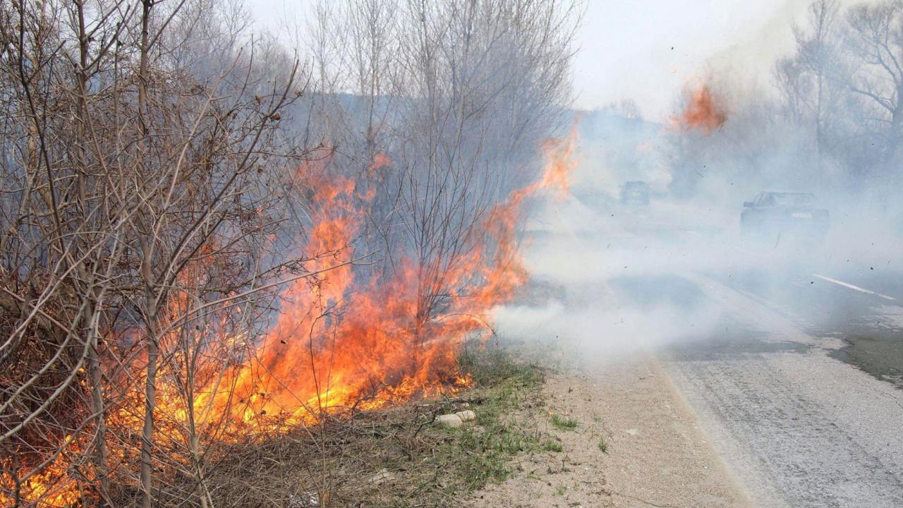 Пожароопасност в три области на страната, жълт код за силен вятър на други три места