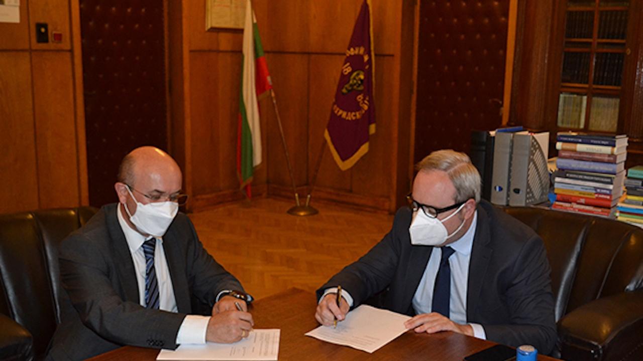 Софийския университет и Българската фондова борса подписаха споразумение за сътрудничество