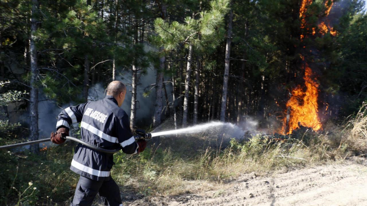 Разраснал се е новият пожар в Сакар планина