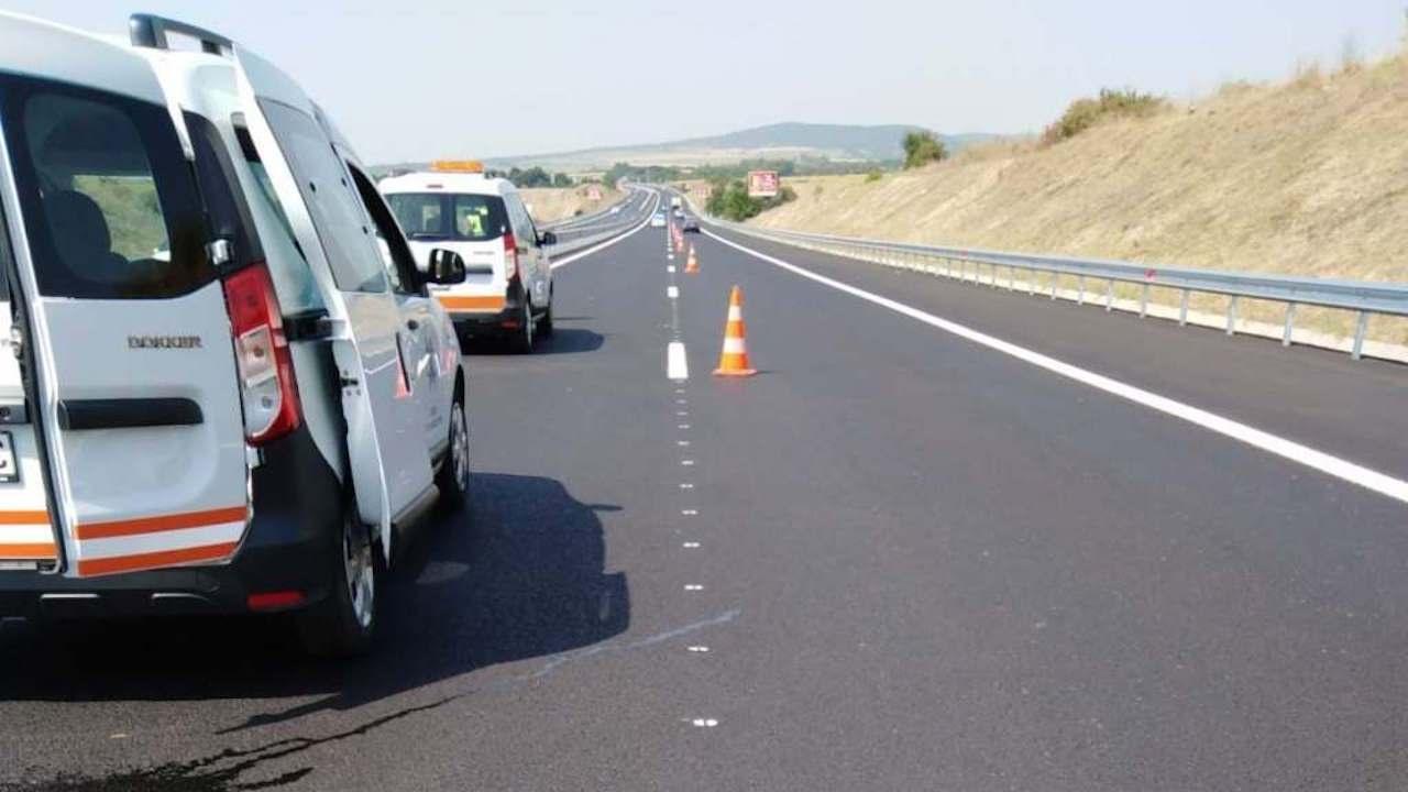 """АПИ: С три различни уреда е проверена маркировката в платното за Бургас при 194-ти км на АМ """"Тракия"""". Покрива всички нормативни изисквания"""