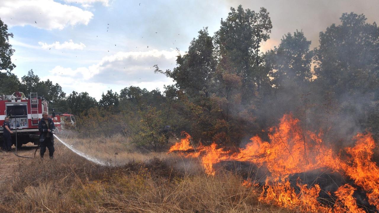 В Плевенско през денонощието са потушени 11 пожари