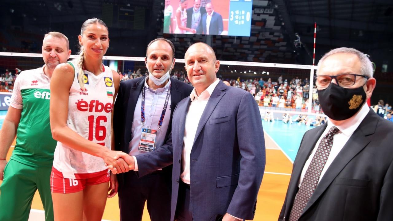 Президентът и спортният министър подкрепиха отбора на България на старта на Европейското първенство по волейбол за жени