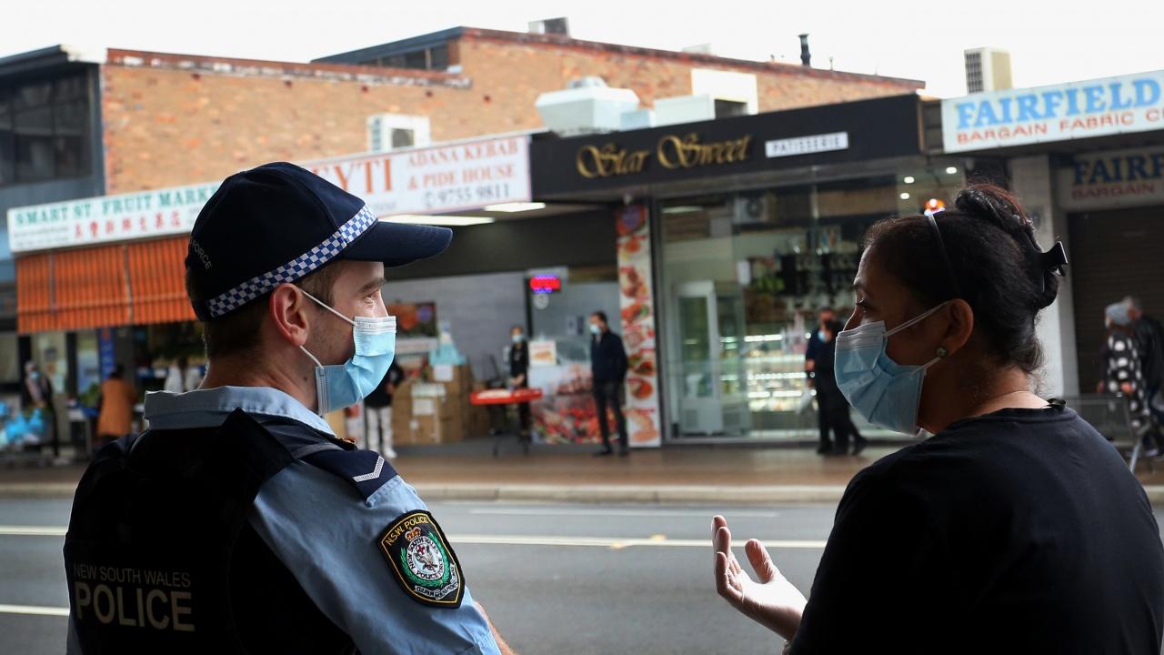 Над 1500 полицаи по улиците на Сидни в очакване на протести срещу локдауна