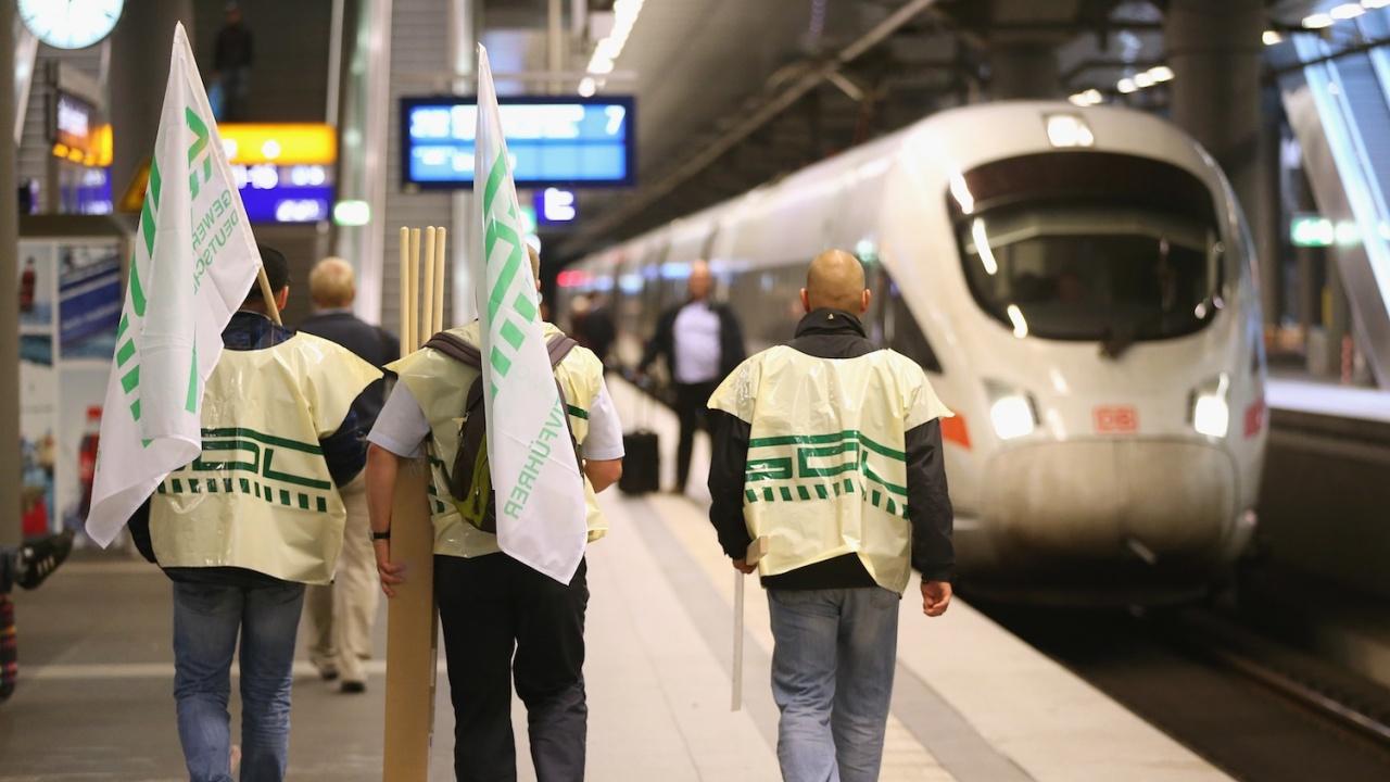 Започна стачката на локомотивните машинисти в Германия