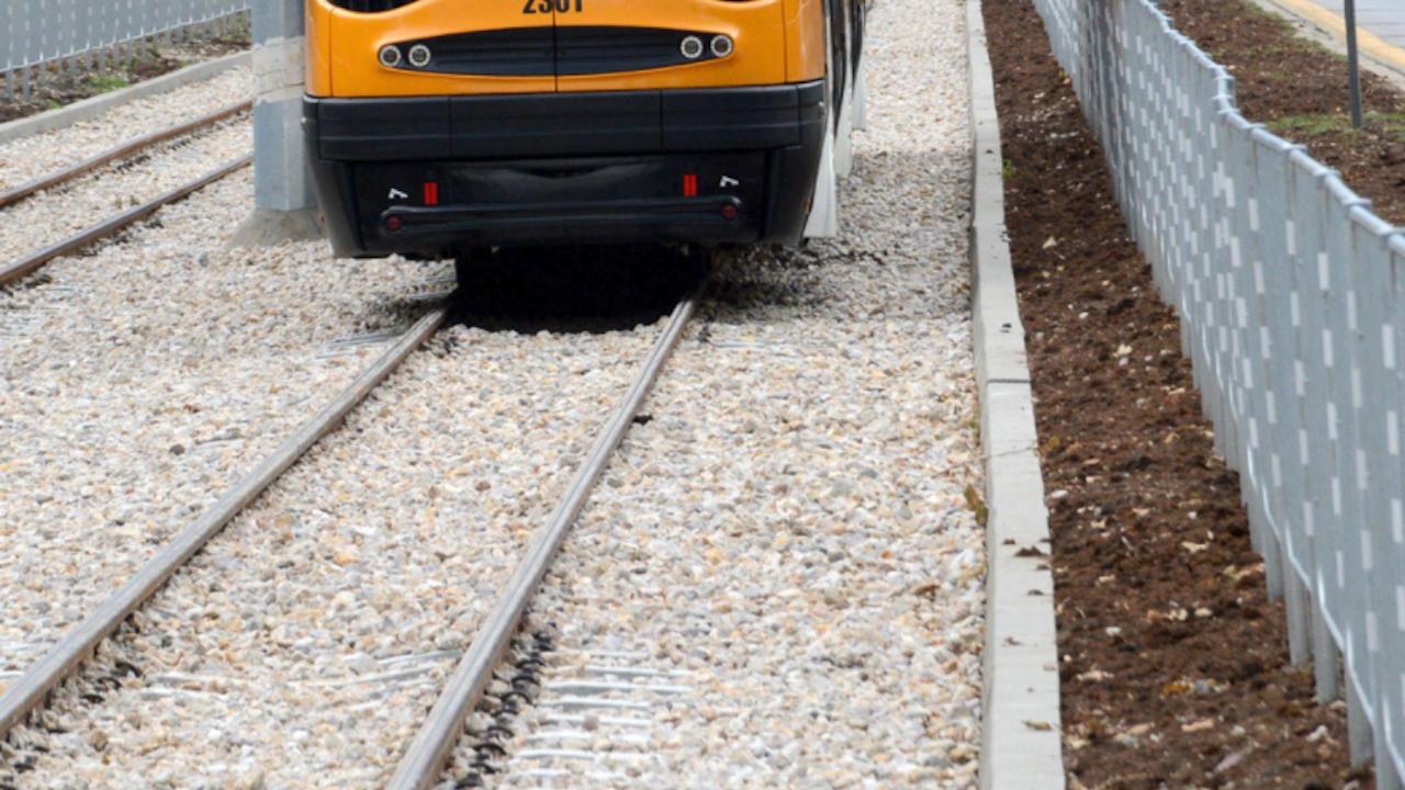 Столична община на проверка на трамвайно трасе