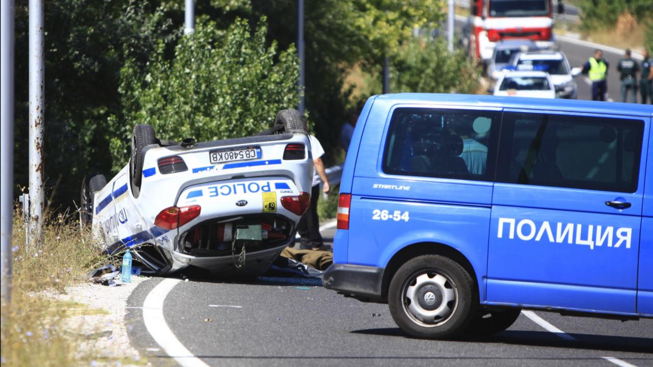 """Млад полицай загина при пътно меле пред """"Капитан Андреево"""""""