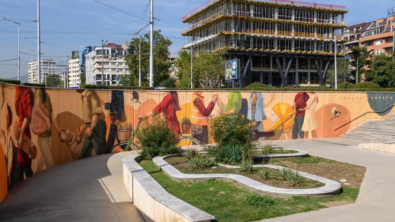 """Кампанията """"Град като хората"""" на Банка ДСК приключи, дарявайки София с красива нова стена"""