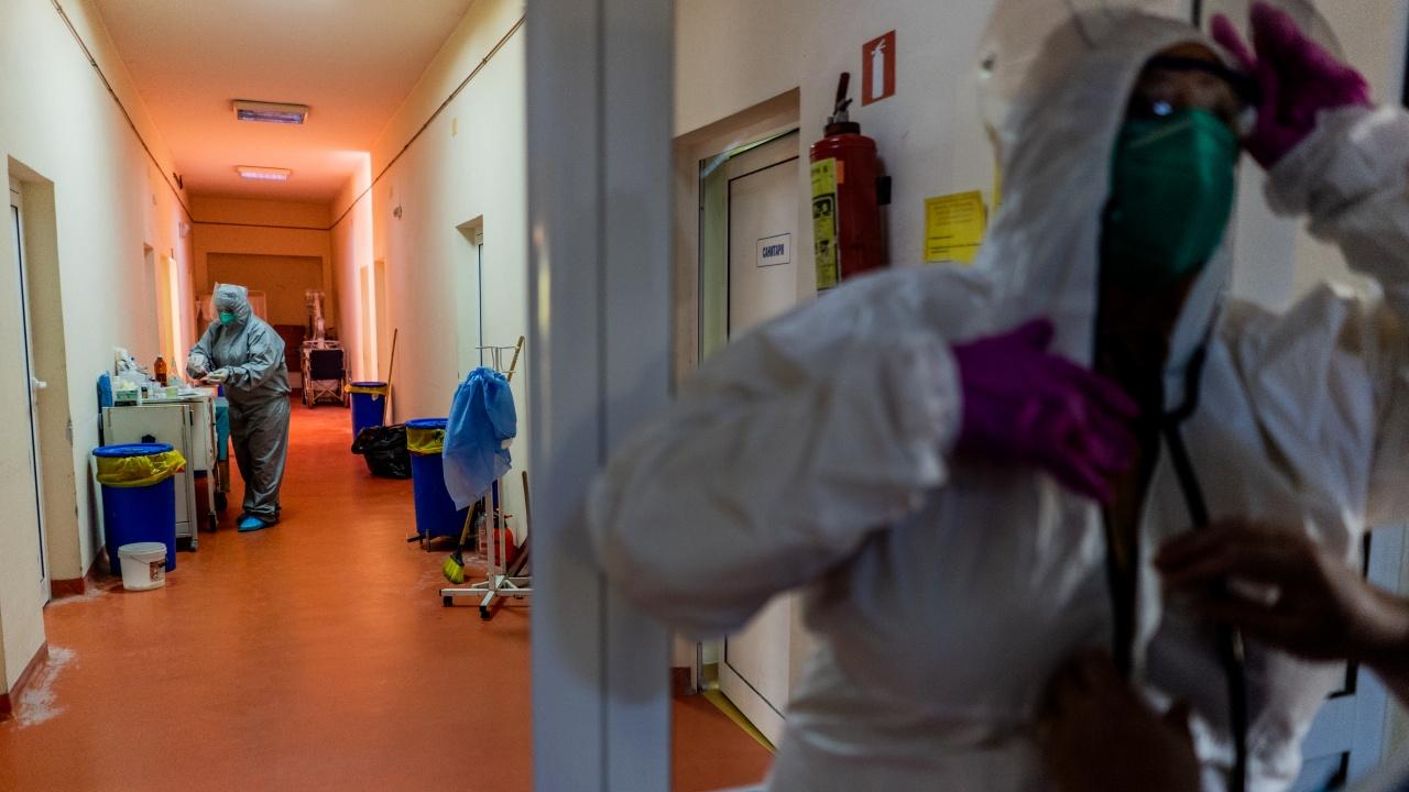 В Русенско само около 2% от пациентите с COVID в болница са ваксинирани