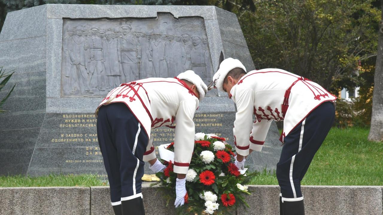 С поднасяне на венци на Паметника на независимостта бе отбелязан 22 септември в столицата