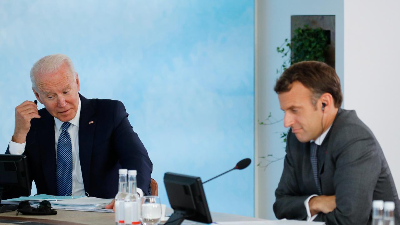 Макрон и Байдън обсъждат доставката на подводници за Австралия