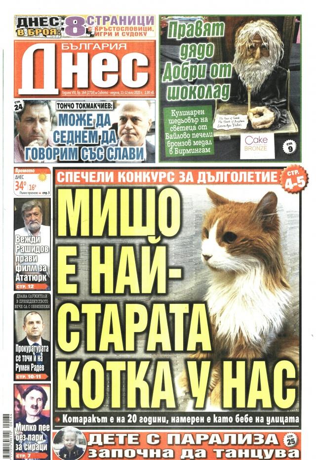 България днес: Мишо - най-старата котка у нас