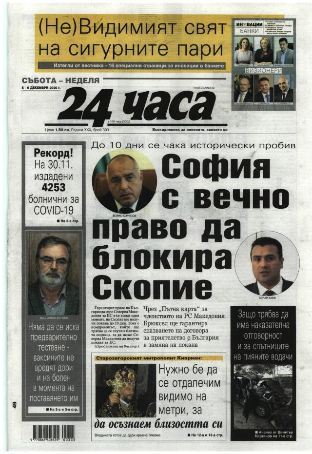 24 часа: Сжфия с вечно право да блокира Скопие