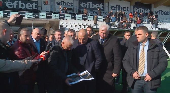 """Борисов е в Пловдив, срещна се с ръководството на """"Локомотив"""""""