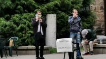 Протест срещу президента Радев в центъра на София