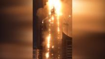 Най-малко 7 души пострадаха вчера при пожар в небостъргач в Шарджа