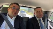 Борисов качи на джипката си Горанов, Дончев и Нанков, за да се порадват на труда си