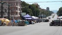 Вижте София днес - под блокади на протестиращи