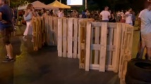 Жандармерия събра палатките пред Румънското посолство