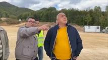 Борисов продължи обиколката из страната, инспектира бъдещия граничен пункт с Гърция
