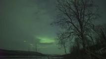 Заснеха красиво Северно сияние над Лапландия