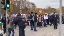 Берлин: Протести, вода, газ и арести