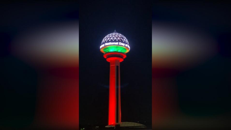 И кулата Атакуле в Анкара светна в цветовете на националния ни трибагреник