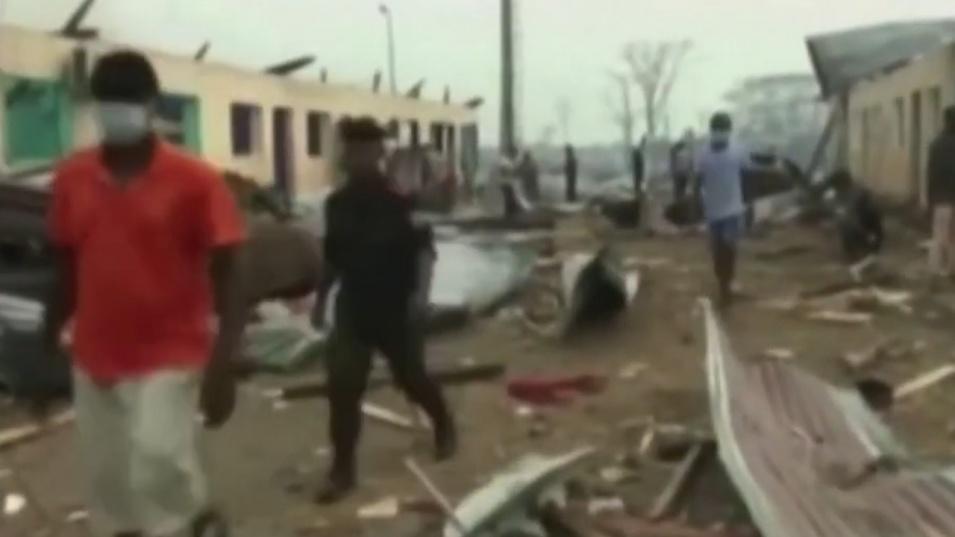 Гръмна военна база в Екваториална Гвинея. Има убити