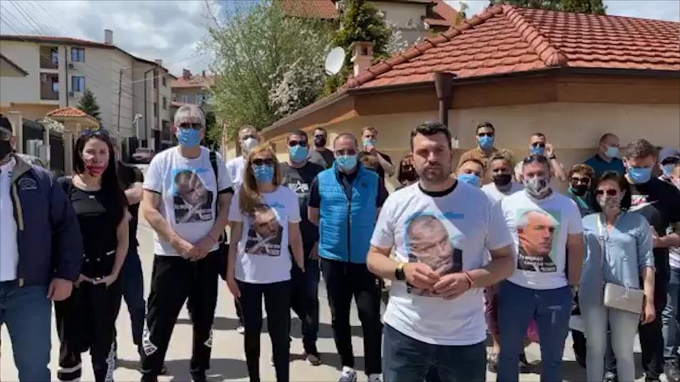 Активисти на ГЕРБ бранят дома на Борисов от готвена провокация