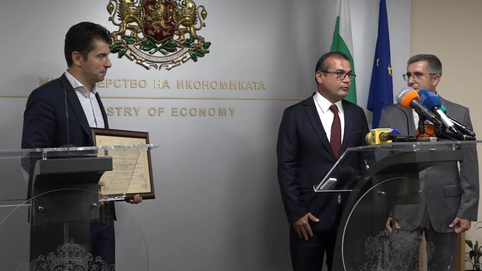 Икономическият министър връчи сертификати клас А на три компании с инвестиции за над 55 млн. лева