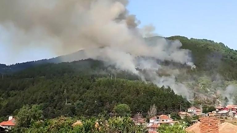Голям пожар бушува над Твърдица в Стара планина